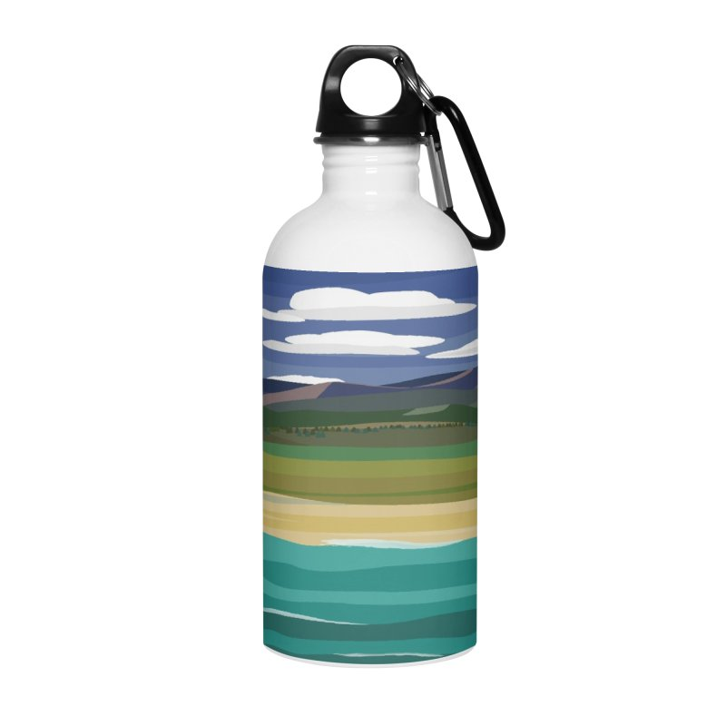 Layered Landscape Accessories Water Bottle by buxmontweb's Artist Shop