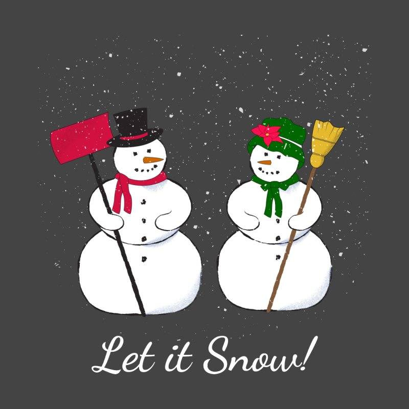 Mr. and Ms. Snowman Men's T-Shirt by buxmontweb's Artist Shop