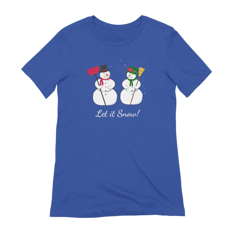Mr. and Ms. Snowman Women's T-Shirt by buxmontweb's Artist Shop