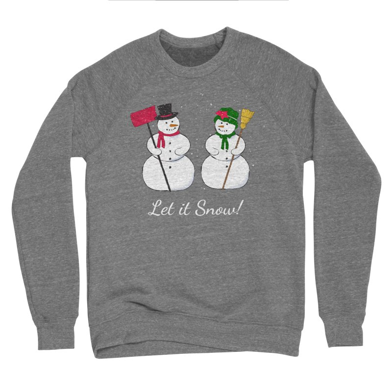 Mr. and Ms. Snowman Men's Sponge Fleece Sweatshirt by buxmontweb's Artist Shop