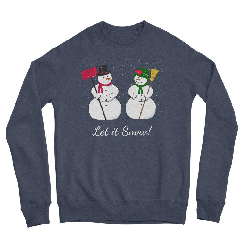 Mr. and Ms. Snowman Women's Sponge Fleece Sweatshirt by buxmontweb's Artist Shop