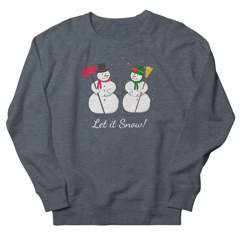 Mr. and Ms. Snowman Men's French Terry Sweatshirt by buxmontweb's Artist Shop