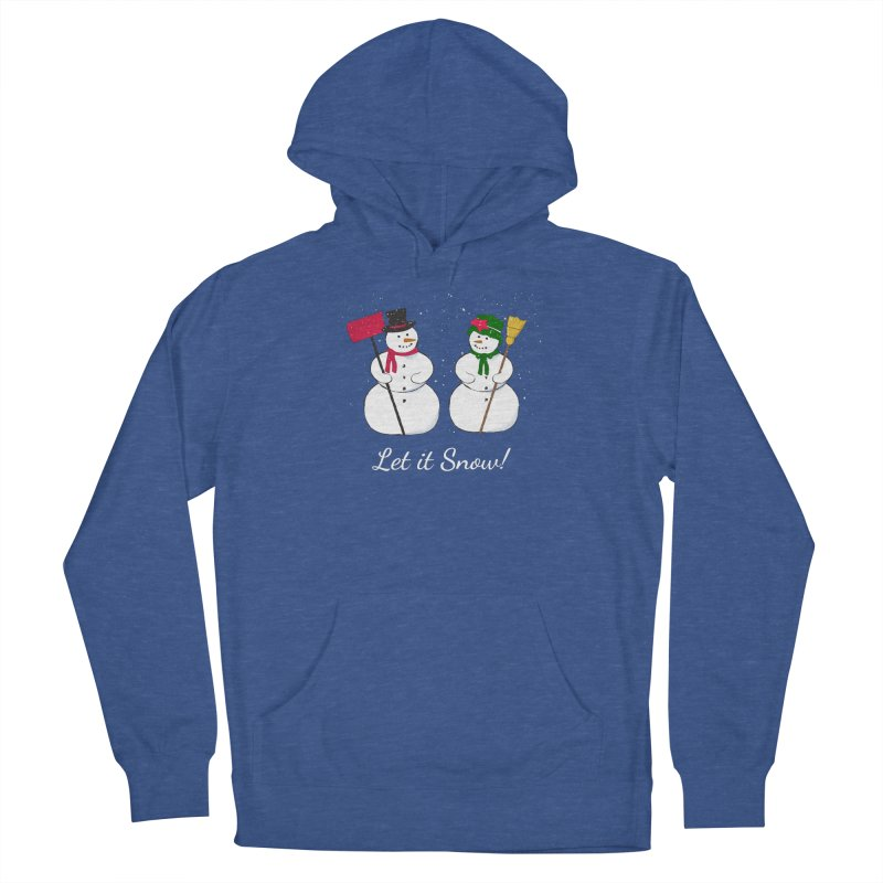 Mr. and Ms. Snowman Men's Pullover Hoody by buxmontweb's Artist Shop