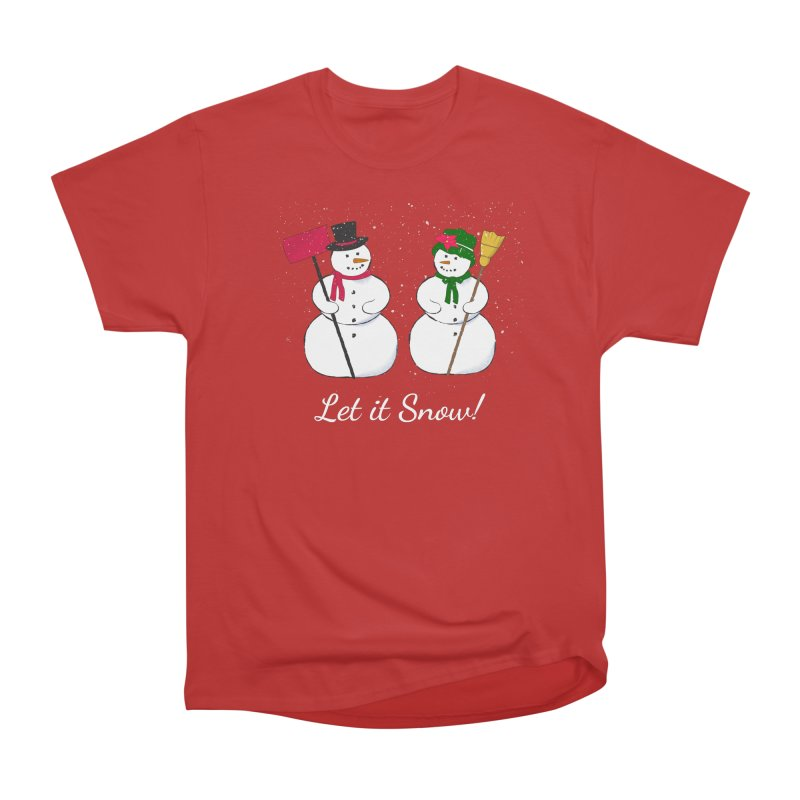 Mr. and Ms. Snowman Men's Heavyweight T-Shirt by buxmontweb's Artist Shop