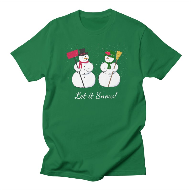 Mr. and Ms. Snowman Men's T-Shirt by buxmontweb's Artist Shop