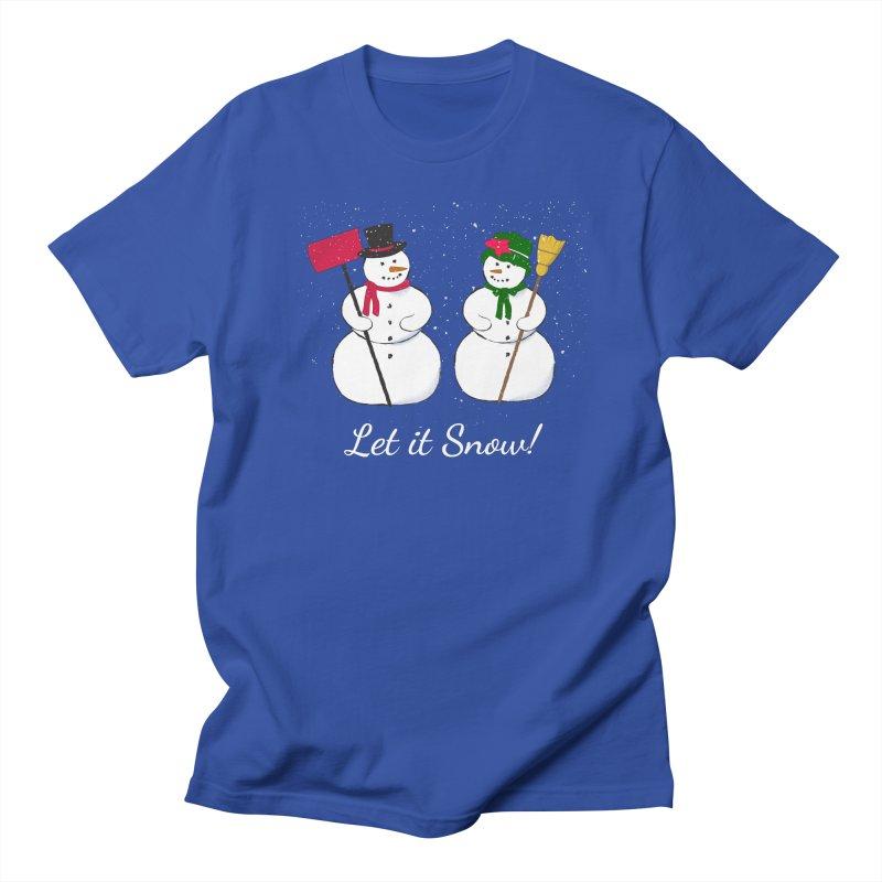 Mr. and Ms. Snowman Men's Regular T-Shirt by buxmontweb's Artist Shop