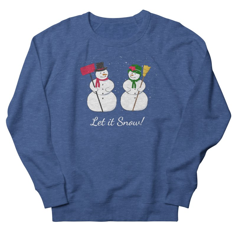 Mr. and Ms. Snowman Women's French Terry Sweatshirt by buxmontweb's Artist Shop