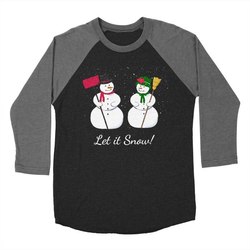 Mr. and Ms. Snowman Men's Baseball Triblend Longsleeve T-Shirt by buxmontweb's Artist Shop