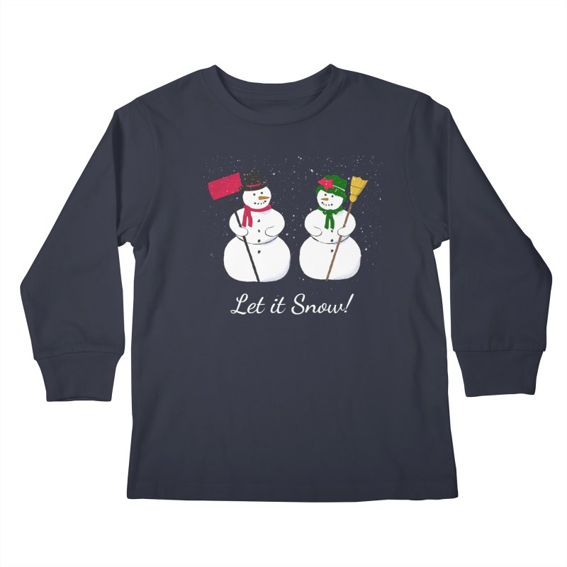 Mr. and Ms. Snowman Kids Longsleeve T-Shirt by buxmontweb's Artist Shop