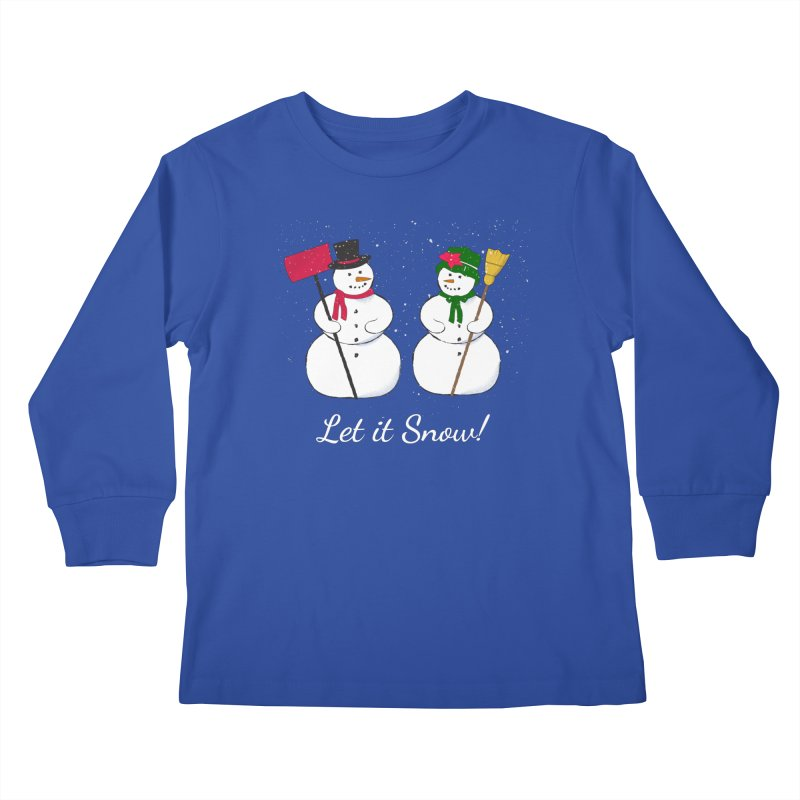 Mr. and Ms. Snowman Kids Longsleeve T-Shirt by buxmontweb's Artist Shop