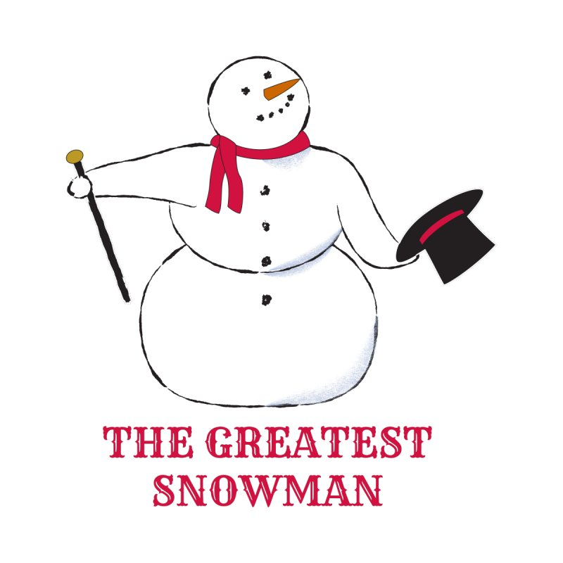 The Greatest Snowman Kids Longsleeve T-Shirt by buxmontweb's Artist Shop