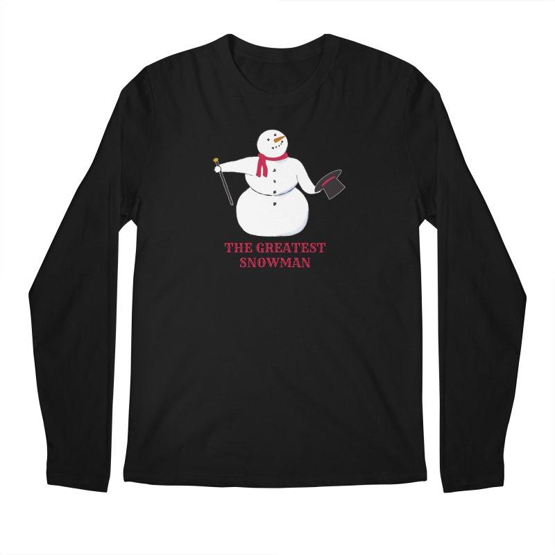 The Greatest Snowman Men's Regular Longsleeve T-Shirt by buxmontweb's Artist Shop