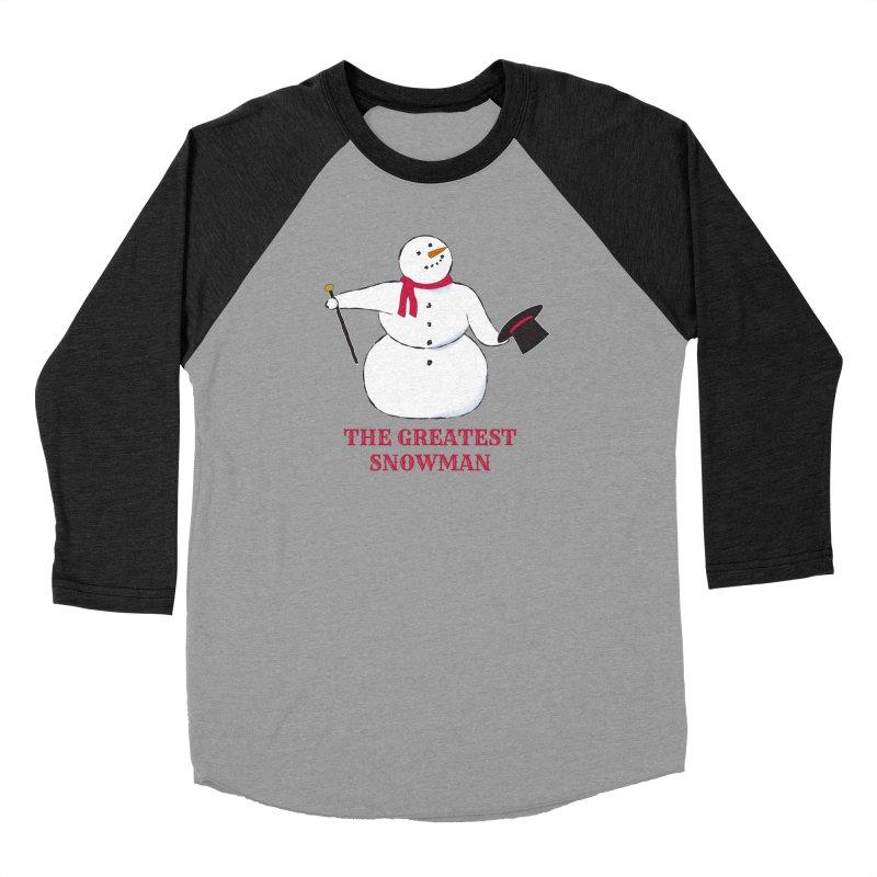 The Greatest Snowman Men's Baseball Triblend Longsleeve T-Shirt by buxmontweb's Artist Shop
