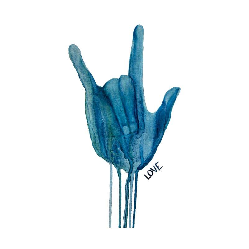 Blue Love Men's T-Shirt by buyerinfichter's Artist Shop