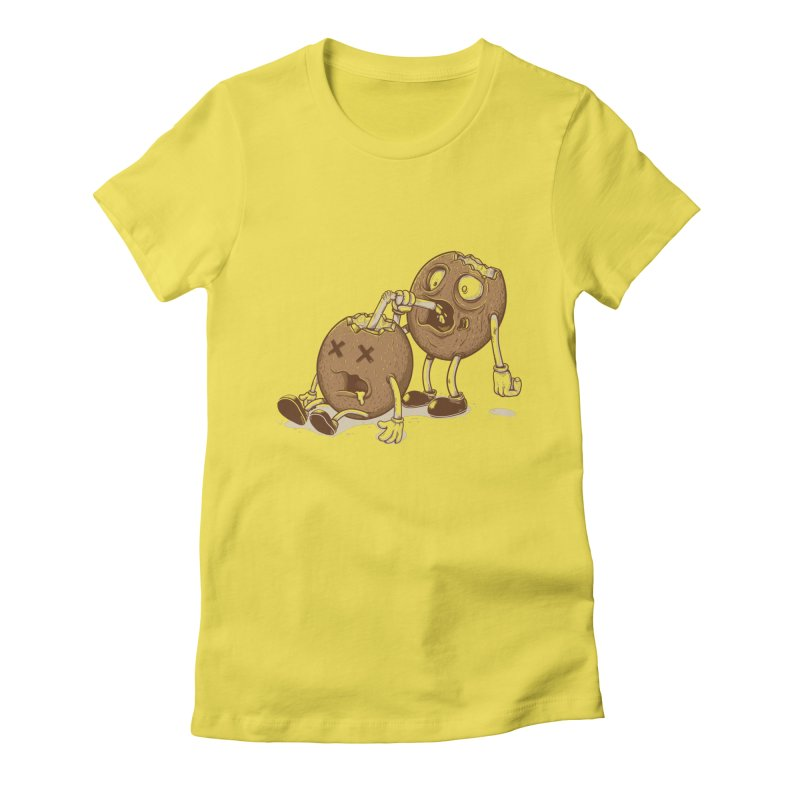 El coco Women's Fitted T-Shirt by buyodesign's Artist Shop