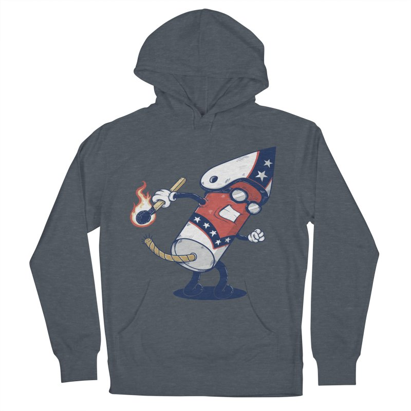 firecracker man Women's Pullover Hoody by buyodesign's Artist Shop