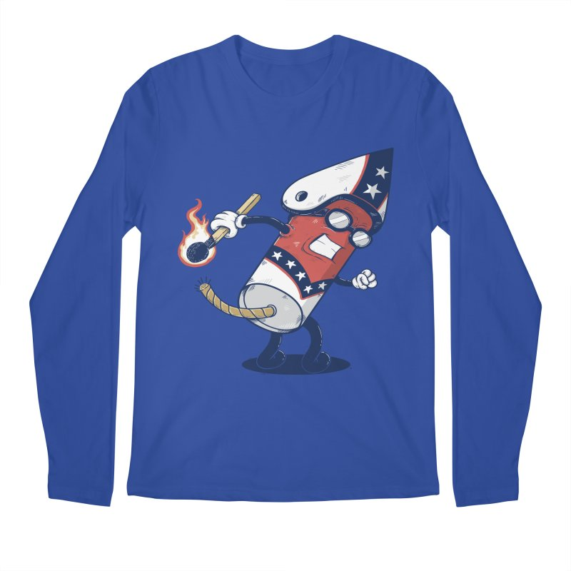 firecracker man Men's Longsleeve T-Shirt by buyodesign's Artist Shop