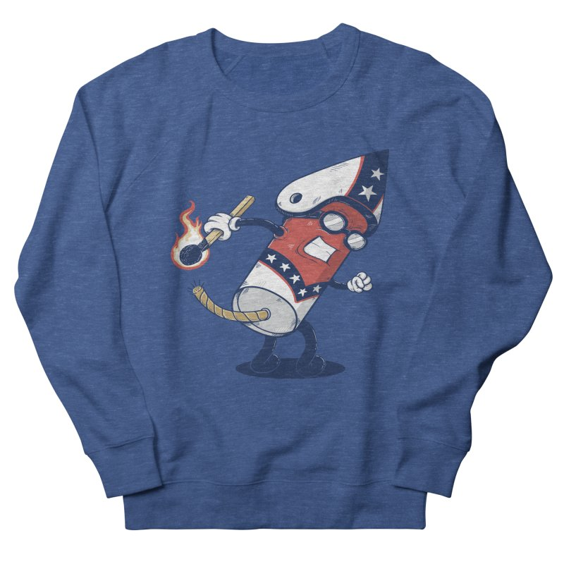 firecracker man Women's French Terry Sweatshirt by buyodesign's Artist Shop