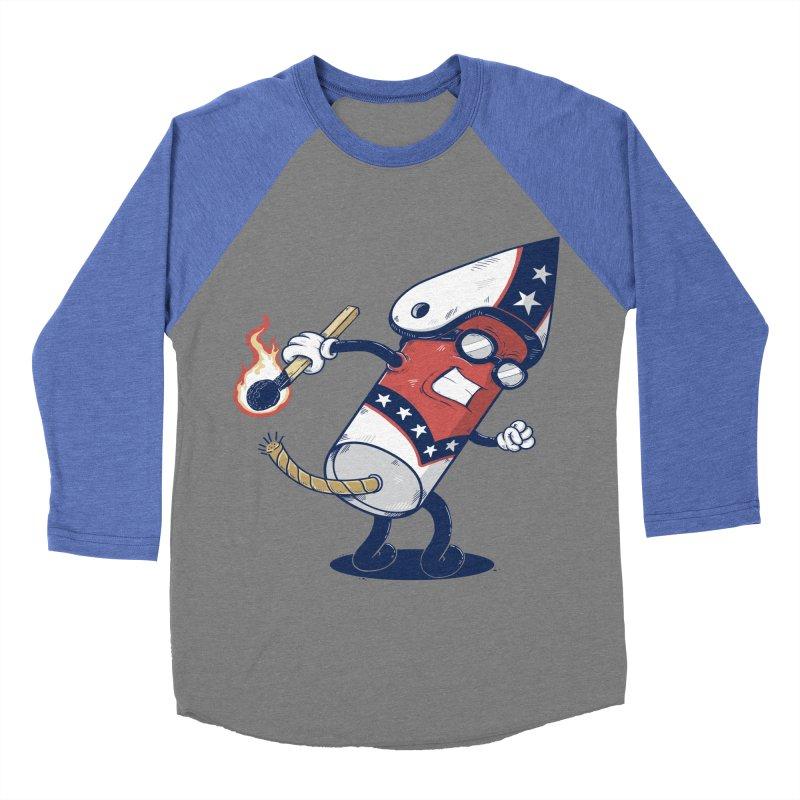 firecracker man Men's Baseball Triblend T-Shirt by buyodesign's Artist Shop