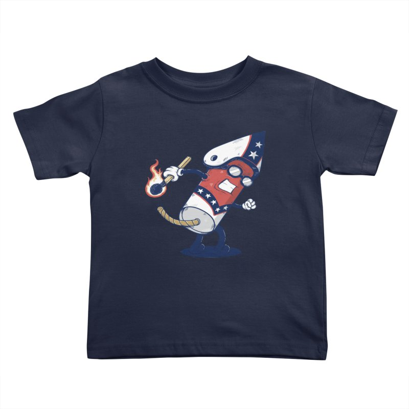 firecracker man Kids Toddler T-Shirt by buyodesign's Artist Shop