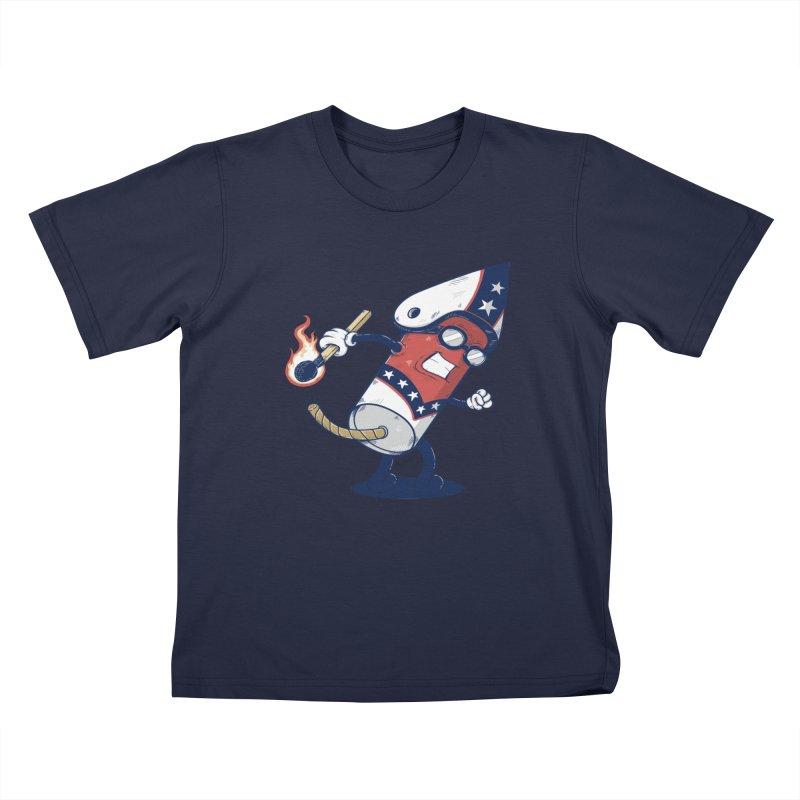 firecracker man Kids Toddler T-Shirt by buyodesign's Artist Shop