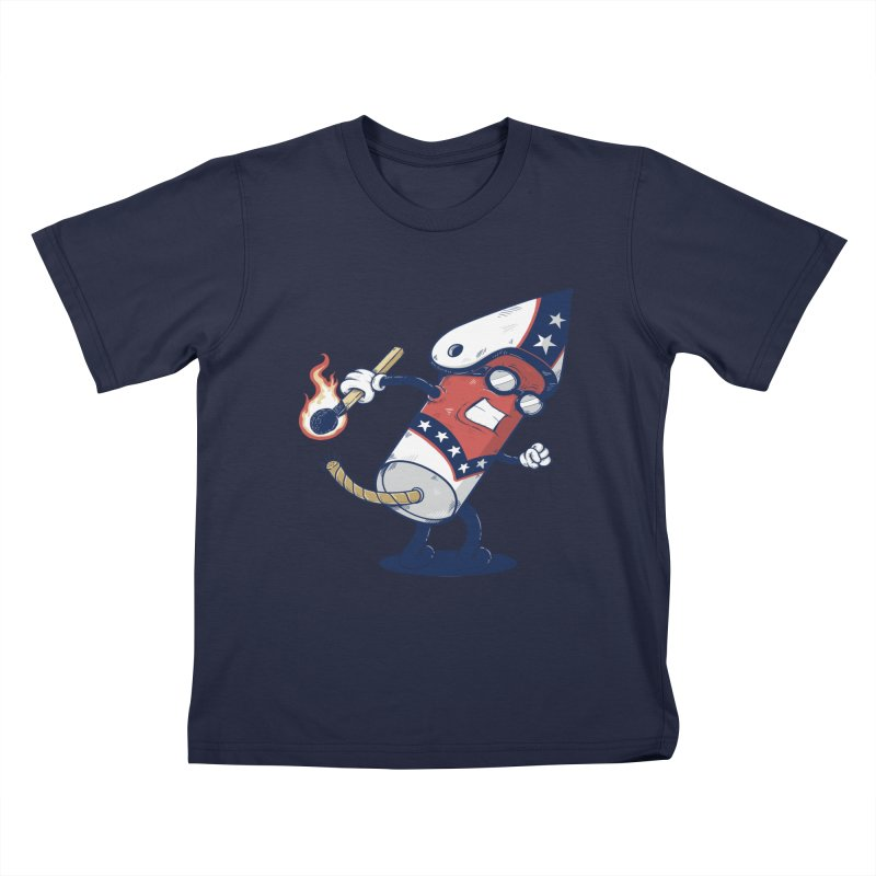 firecracker man Kids T-shirt by buyodesign's Artist Shop