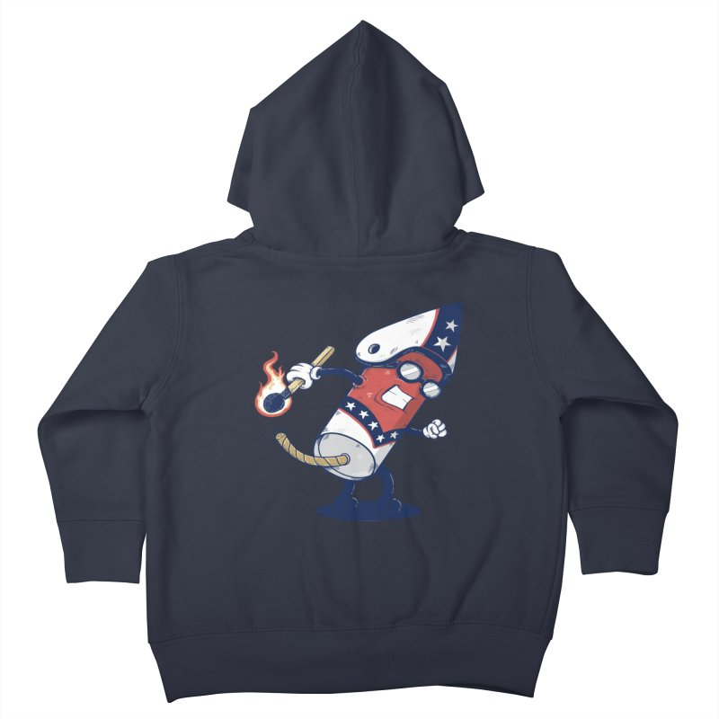 firecracker man Kids Toddler Zip-Up Hoody by buyodesign's Artist Shop