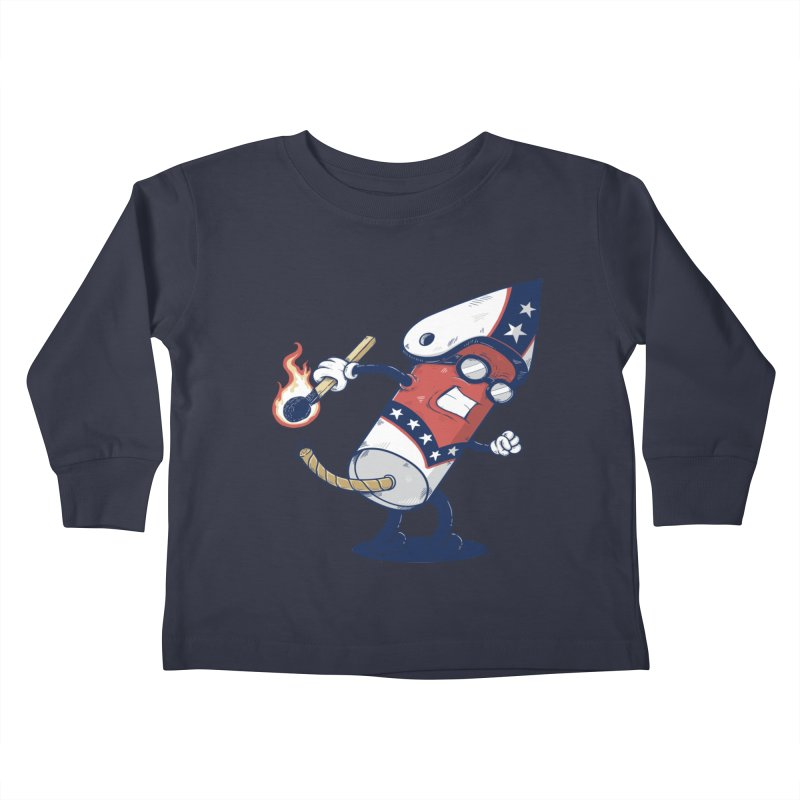 firecracker man Kids Toddler Longsleeve T-Shirt by buyodesign's Artist Shop