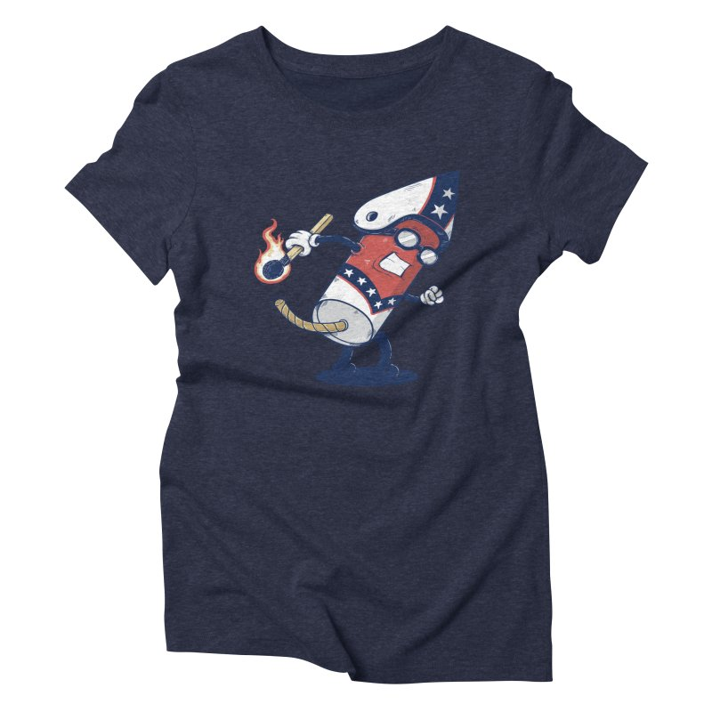 firecracker man Women's Triblend T-Shirt by buyodesign's Artist Shop