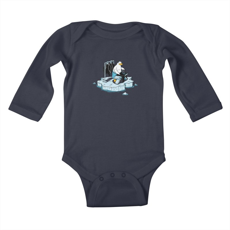global warming Kids Baby Longsleeve Bodysuit by buyodesign's Artist Shop