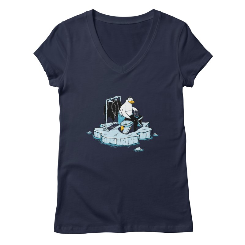 global warming Women's Regular V-Neck by buyodesign's Artist Shop