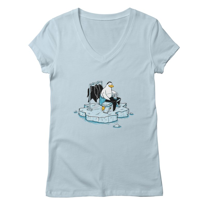 global warming Women's V-Neck by buyodesign's Artist Shop