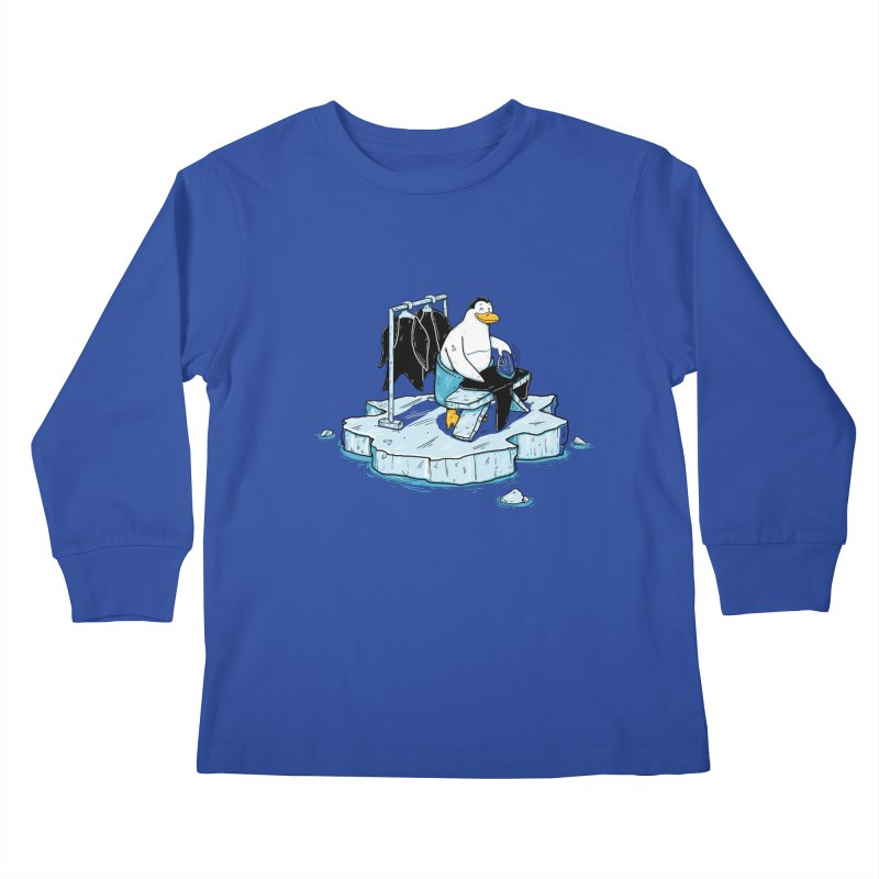 global warming Kids Longsleeve T-Shirt by buyodesign's Artist Shop