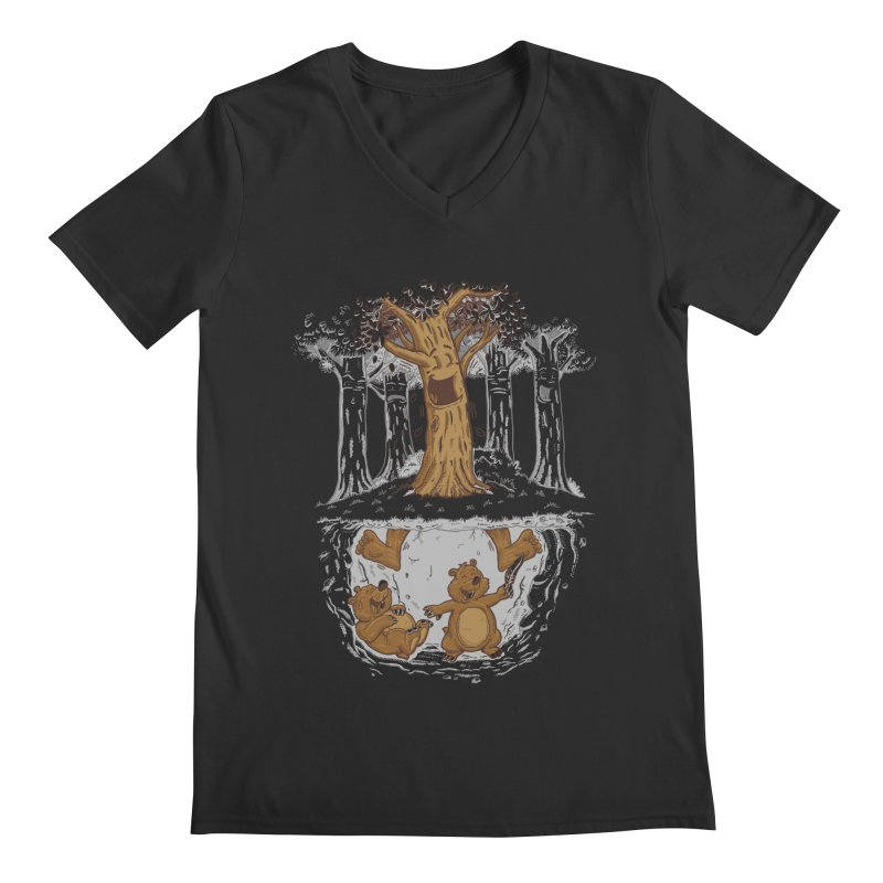 happy feet Men's Regular V-Neck by buyodesign's Artist Shop