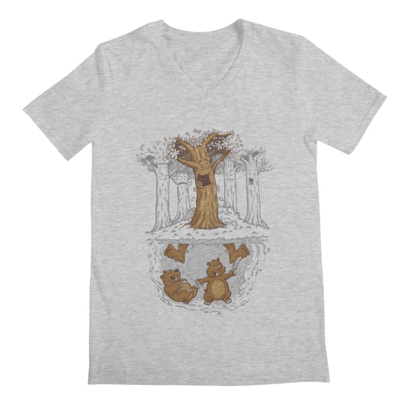 happy feet Men's V-Neck by buyodesign's Artist Shop