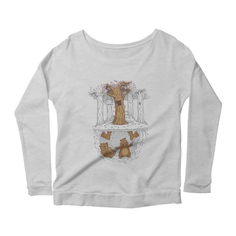 happy feet Women's Scoop Neck Longsleeve T-Shirt by buyodesign's Artist Shop