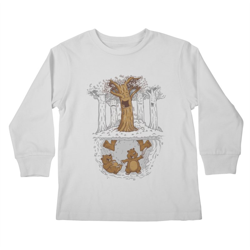 happy feet Kids Longsleeve T-Shirt by buyodesign's Artist Shop