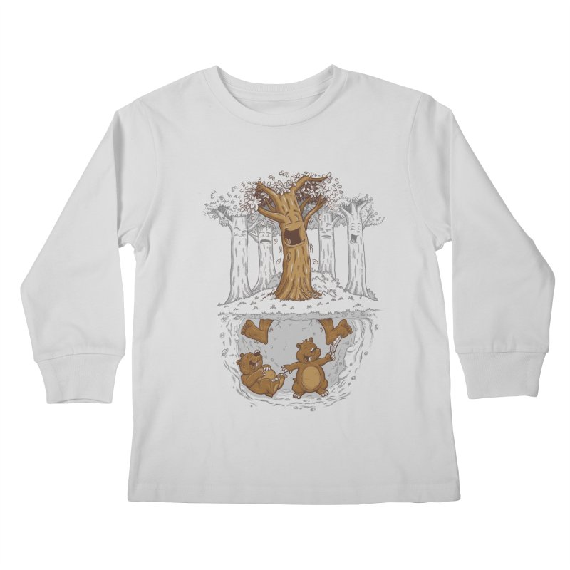 happy feet Kids Longsleeve T-Shirt by buyodesign's Artist Shop