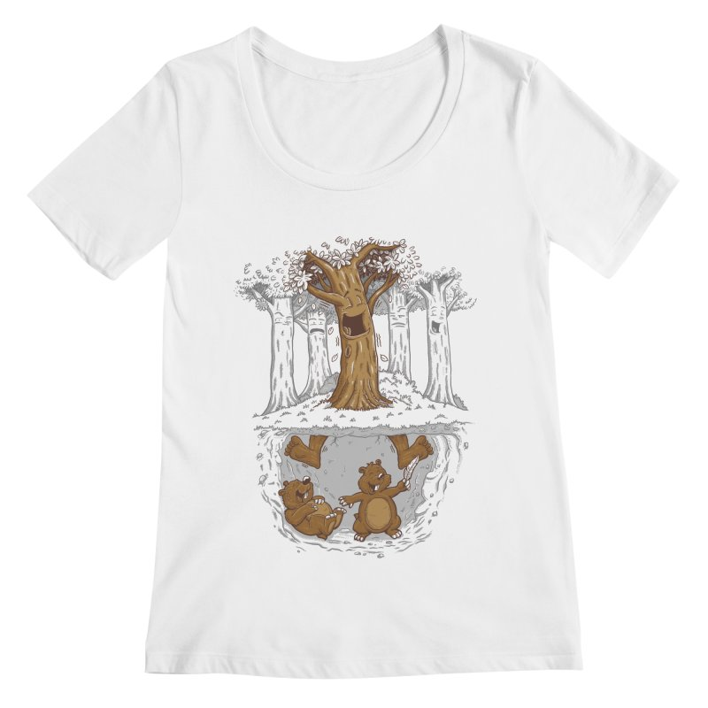 happy feet Women's Regular Scoop Neck by buyodesign's Artist Shop