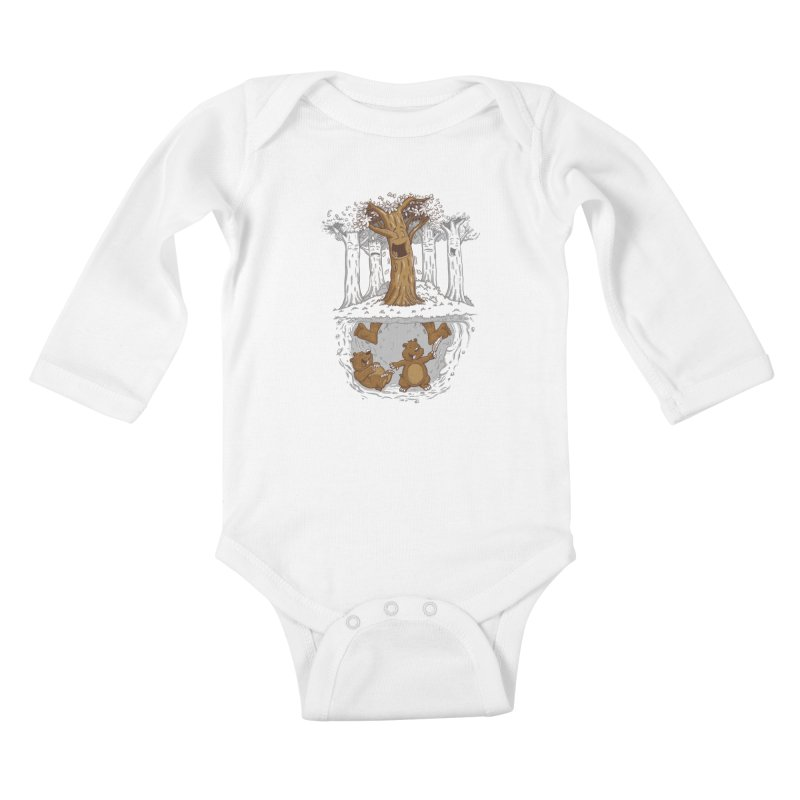 happy feet Kids Baby Longsleeve Bodysuit by buyodesign's Artist Shop