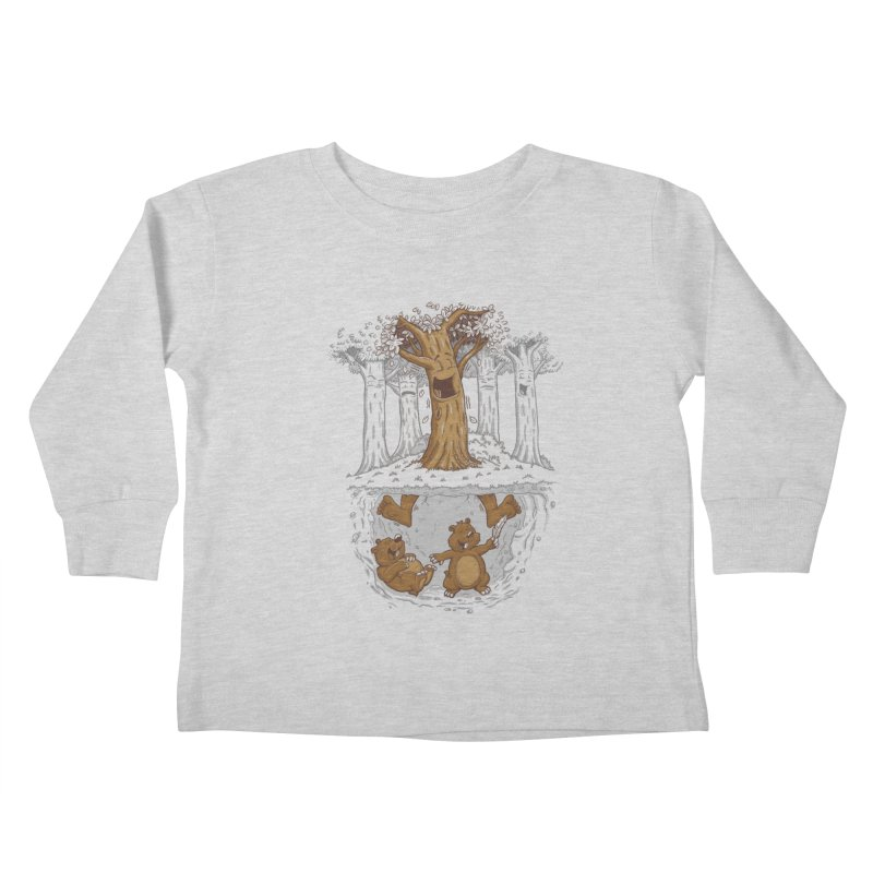 happy feet Kids Toddler Longsleeve T-Shirt by buyodesign's Artist Shop