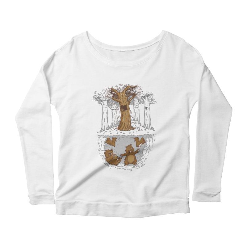 happy feet Women's Scoop Neck Longsleeve T-Shirt by buyodesign's Artist Shop