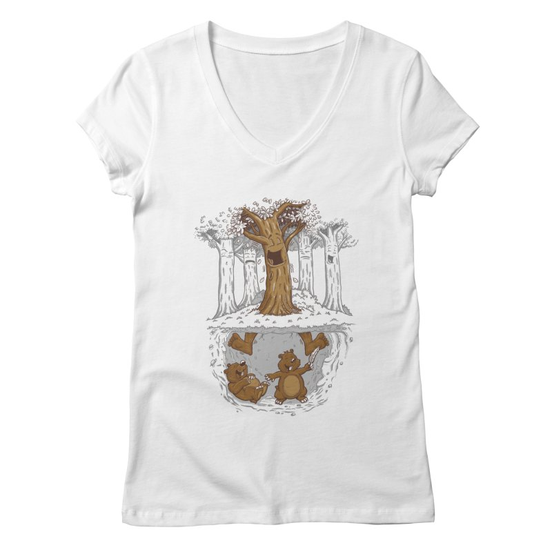 happy feet Women's V-Neck by buyodesign's Artist Shop