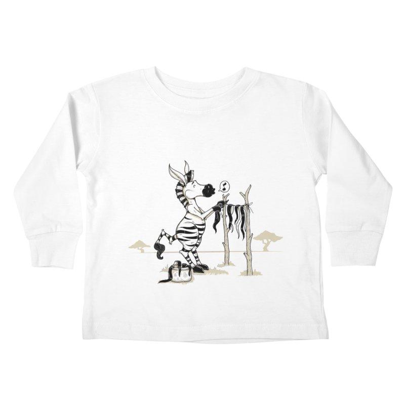 lavando rayas Kids Toddler Longsleeve T-Shirt by buyodesign's Artist Shop