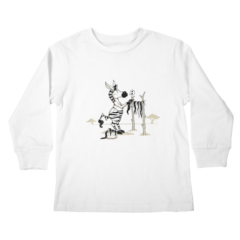 lavando rayas Kids Longsleeve T-Shirt by buyodesign's Artist Shop