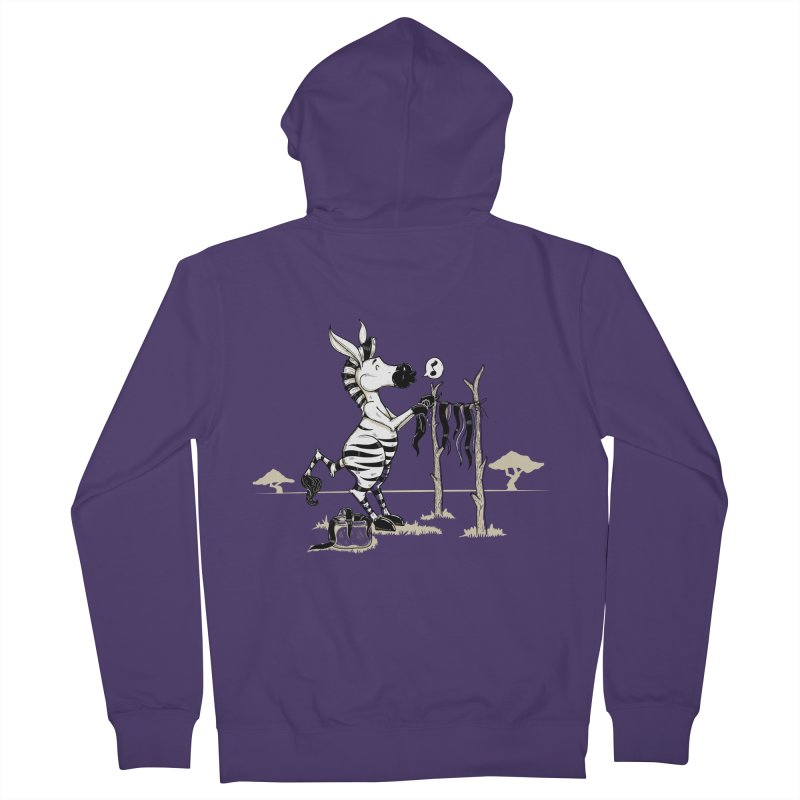 lavando rayas Women's French Terry Zip-Up Hoody by buyodesign's Artist Shop