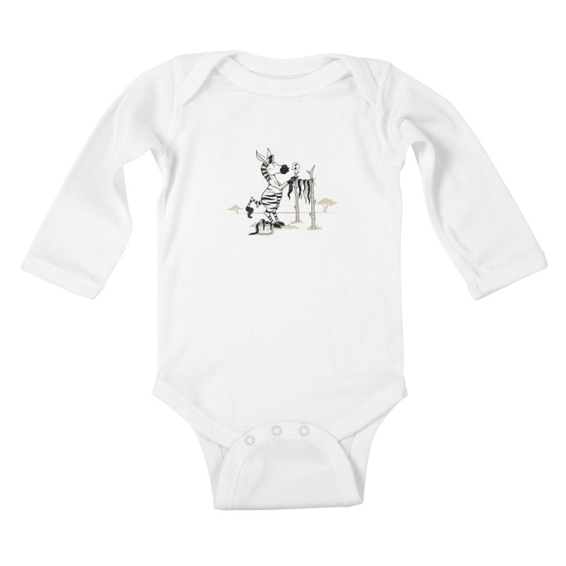lavando rayas Kids Baby Longsleeve Bodysuit by buyodesign's Artist Shop