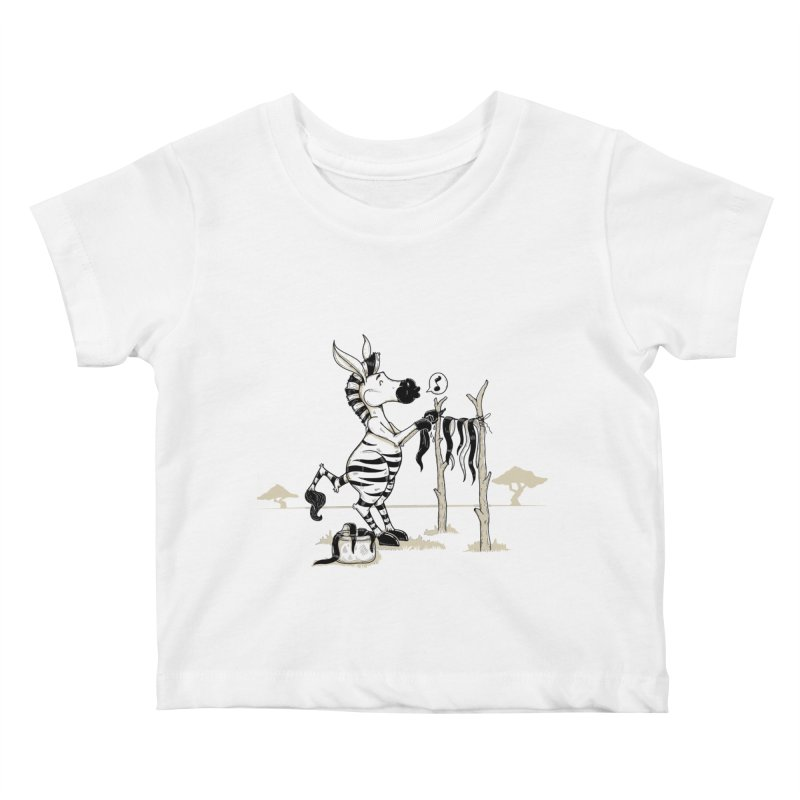 lavando rayas Kids Baby T-Shirt by buyodesign's Artist Shop