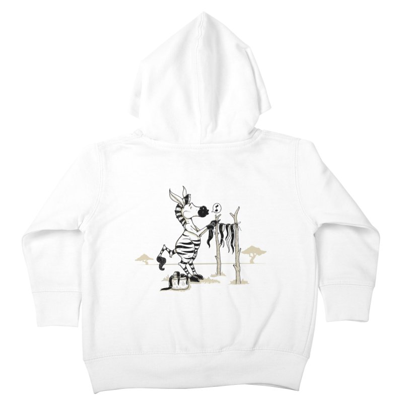lavando rayas Kids Toddler Zip-Up Hoody by buyodesign's Artist Shop