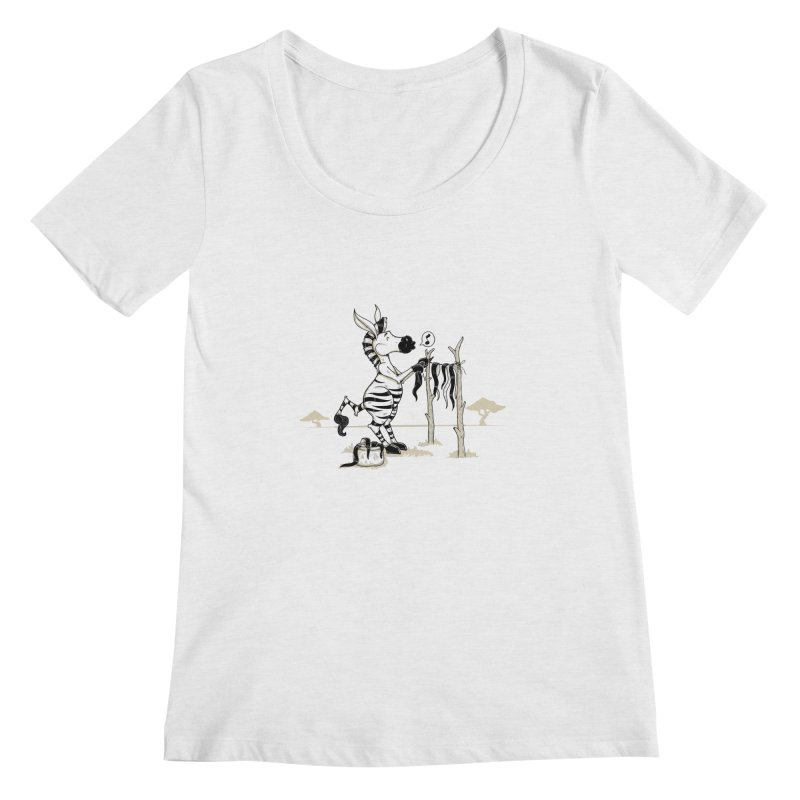 lavando rayas Women's Regular Scoop Neck by buyodesign's Artist Shop